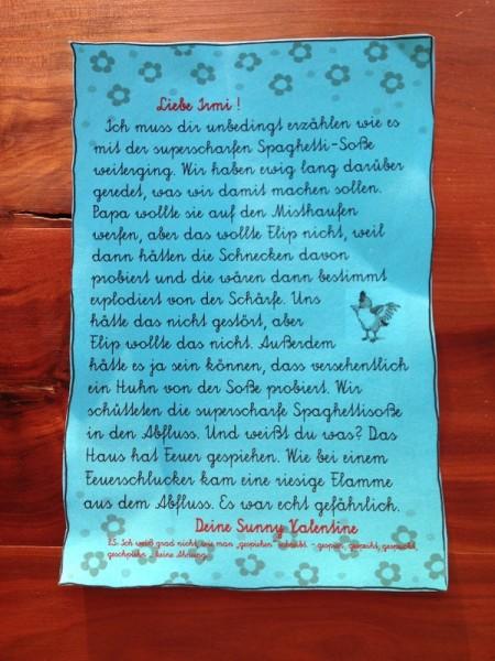 2. Brief von Sunny Kleiner